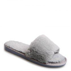 European Style Lady Slippers Warm Plush Autumn And Winter Indoor Home Cotton Slippers - OYSTER 40