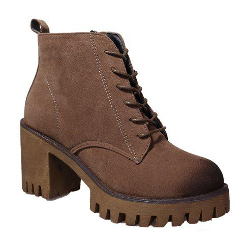 Best New High Heels Short Boots Women's Shoes Autumn Winter British Wind Martin Boots Boots And Boots