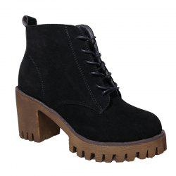 New High Heels Short Boots Women's Shoes Autumn Winter British Wind Martin Boots Boots And Boots -
