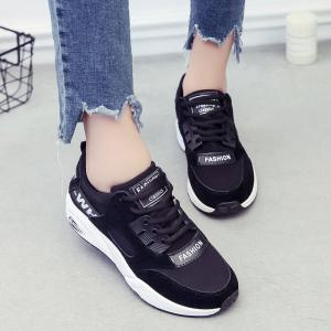 Sports Shoes Female Students Shoes  Casual Shoes Thick Bottom Running Shoes - BLACK 39