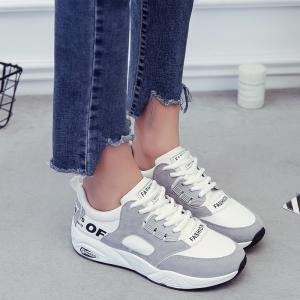 Sports Shoes Female Students Shoes  Casual Shoes Thick Bottom Running Shoes - OYSTER 38