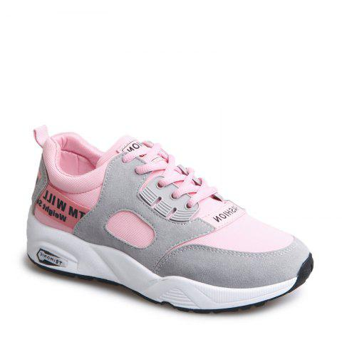 Chic Sports Shoes Female Students Shoes  Casual Shoes Thick Bottom Running Shoes PAPAYA 40