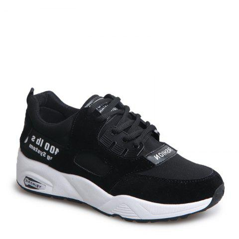 Best Sports Shoes Female Students Shoes  Casual Shoes Thick Bottom Running Shoes - 39 BLACK Mobile