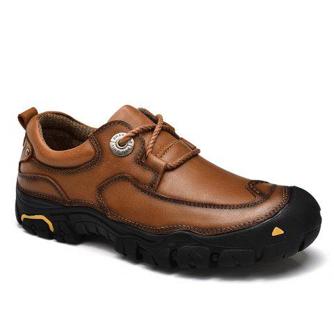 New Outdoor Shoes Men'S Leisure Shoes Leather Shoes Wide Head Men'S Shoes