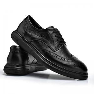 Black Leather Shoes Men'S Bullock Carved Leather Shoes Leather Men'S Shoes Business Leather Shoes -