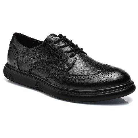 Fashion Black Leather Shoes Men'S Bullock Carved Leather Shoes Leather Men'S Shoes Business Leather Shoes