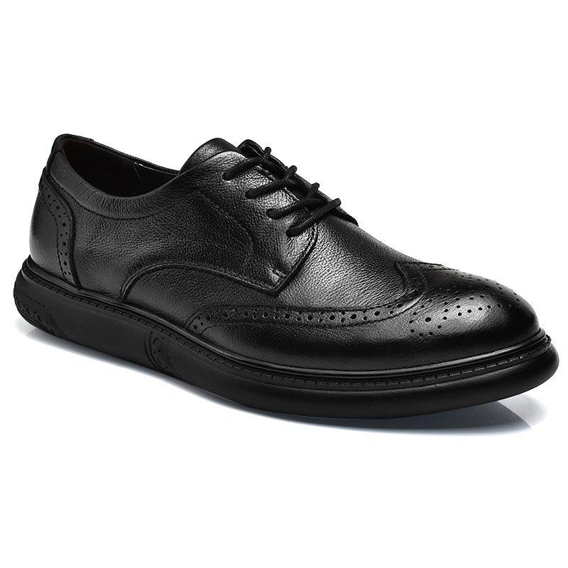 Sale Black Leather Shoes Men'S Bullock Carved Leather Shoes Leather Men'S Shoes Business Leather Shoes