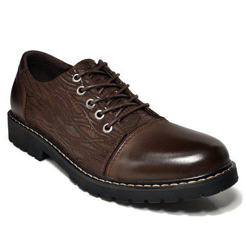 Chaussures habillées de personnalité The Fall of Leather Shoes Chaussures de sport en cuir Big Leather Shoes