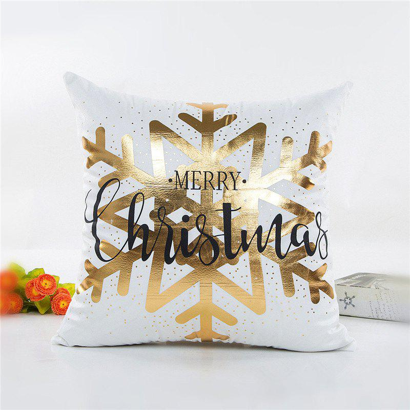 Christmas Decoration Pillowcase Snowflake Pattern Pillow CoverHOME<br><br>Color: WHITE;