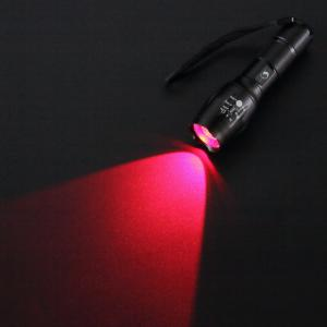 U'King ZQ-X1077 5 Modes Multifonctions Zoomable Multicolore LED Lampe de Poche Torche Set Rouge Vert Violet -