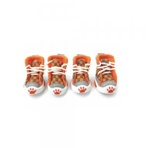 Lovoyager VSE14001 New Classic Casual Canvas Small Dog Shoes Sport Styles Anti-Slip Chihuahua Pet Booties - ORANGE XL/2XL