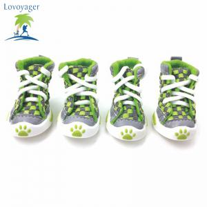 Lovoyager VSE14001 New Classic Casual Canvas Small Dog Shoes Sport Styles Anti-Slip Chihuahua Pet Booties - GREEN XL/2XL