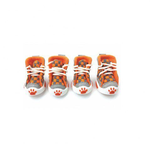 Hot Lovoyager VSE14001 New Classic Casual Canvas Small Dog Shoes Sport Styles Anti-Slip Chihuahua Pet Booties - L ORANGE Mobile