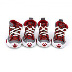 Lovoyager VSE14001 New Classic Casual Canvas Small Dog Shoes Sport Styles Anti-Slip Chihuahua Pet Booties - RED S