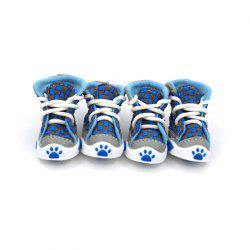 Lovoyager VSE14001 New Classic Casual Canvas Small Dog Shoes Sport Styles Anti-Slip Chihuahua Pet Booties - BLUE XL/2XL