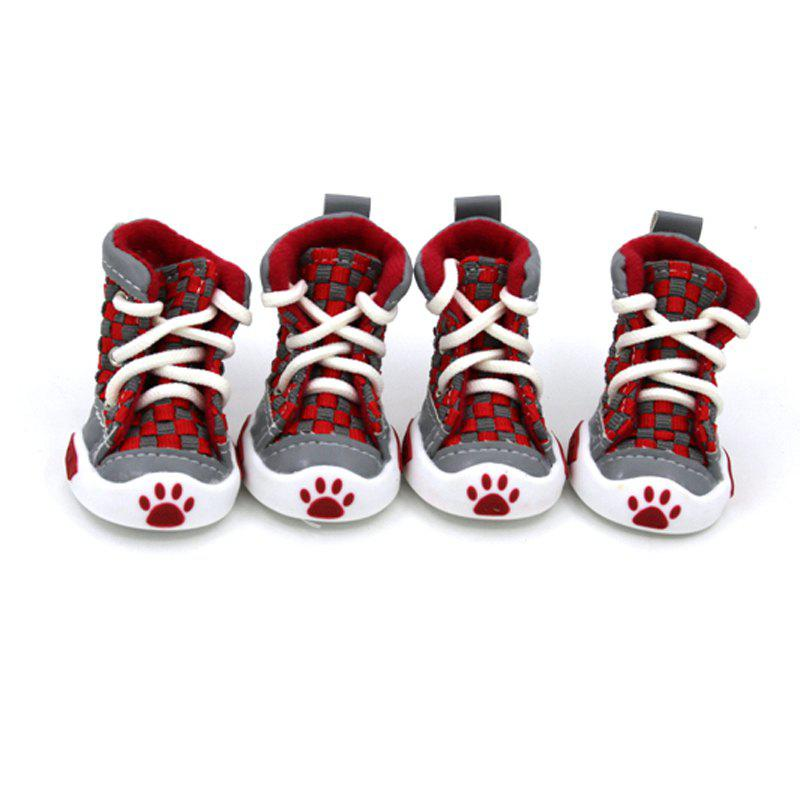 Trendy Lovoyager VSE14001 New Classic Casual Canvas Small Dog Shoes Sport Styles Anti-Slip Chihuahua Pet Booties