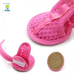 Lovoyager VSB12003 Pet Accessories Soft Rubber Sole Mesh Spring Summer Small Dog Sandals Puppy Shoes - PINK XL/2XL