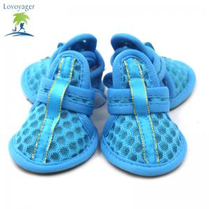 Lovoyager VSB12003 Pet Accessories Soft Rubber Sole Mesh Spring Summer Small Dog Sandals Puppy Shoes - BLUE XL/2XL