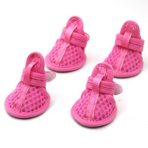 Outfit Lovoyager VSB12003 Pet Accessories Soft Rubber Sole Mesh Spring Summer Small Dog Sandals Puppy Shoes PINK XL/2XL