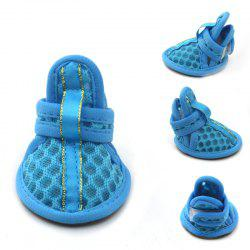 Lovoyager VSB12003 Pet Accessories Soft Rubber Sole Mesh Spring Summer Small Dog Sandals Puppy Shoes - BLUE S