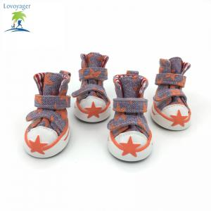 Lovoyager VSE15002 Casual Pet Shoes Star Print Anti-Slip Sneakers Breathable Boots For Puppy Dogs - ORANGE 2XL