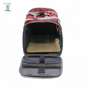Lovoyager LVC1707 Pet Car Travel Carrier Bag Folding Portable Breathable Mesh Cotton Dog Cats Products - RED ONE SZIE