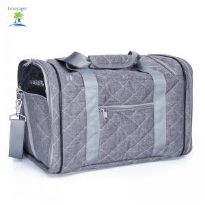 Lovoyager LVC1707 Sac de transport de voyage pour animaux Pet Folding Portable Mesh Respirant Cotton Dog Products - Gris Taille Unique
