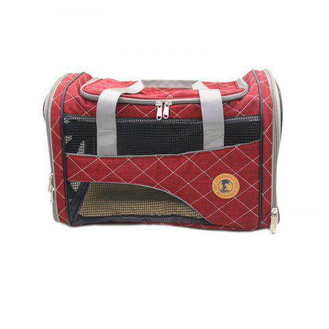Store Lovoyager LVC1707 Pet Car Travel Carrier Bag Folding Portable Breathable Mesh Cotton Dog Cats Products RED ONE SZIE