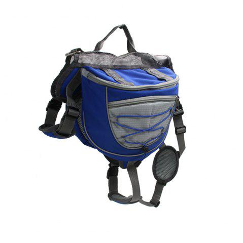New Lovoyager VB16005 High Quality Pet Accessories Waterproof Adjustable Nylon Dog Saddle Bag For Hiking Travel - L BLUE Mobile