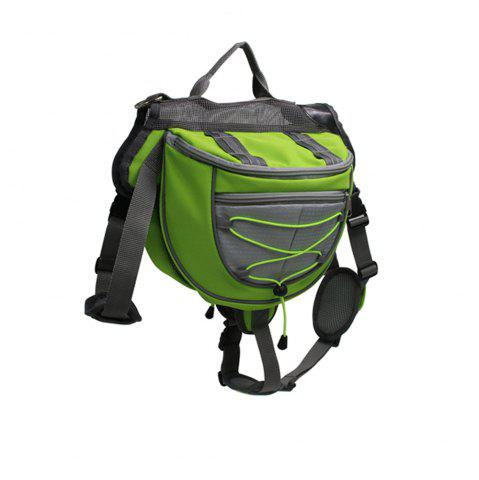 Best Lovoyager VB16005 High Quality Pet Accessories Waterproof Adjustable Nylon Dog Saddle Bag For Hiking Travel GREEN M