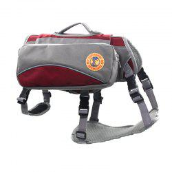 Lovoyager VB16012 Outdoor Pet Saddle Bag Harness Multifunctional Training Hiking Pouch for Large Dog - RED L