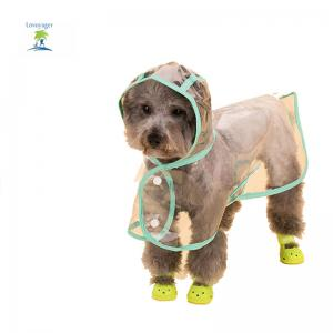 Lovoyager VC161103 Waterproof Pet Raincoat Hooded Jacket Transparent Clothing for Small Large Dog -
