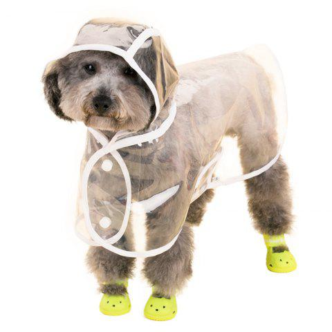 Chic Lovoyager VC161103 Waterproof Pet Raincoat Hooded Jacket Transparent Clothing for Small Large Dog - XL WHITE Mobile