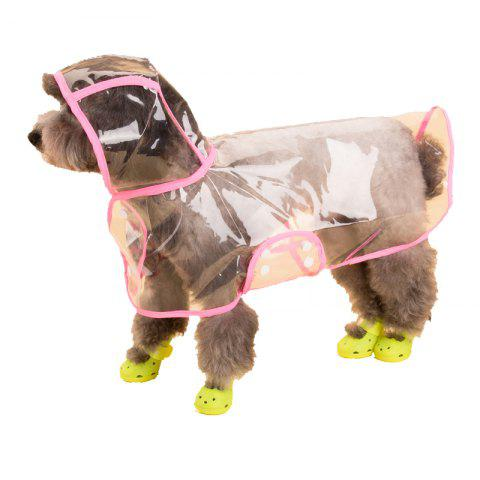 Trendy Lovoyager VC161103 Waterproof Pet Raincoat Hooded Jacket Transparent Clothing for Small Large Dog