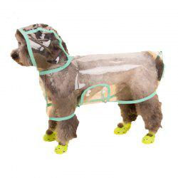 Lovoyager VC161103 Waterproof Pet Raincoat Hooded Jacket Transparent Clothing for Small Large Dog - GREEN XL