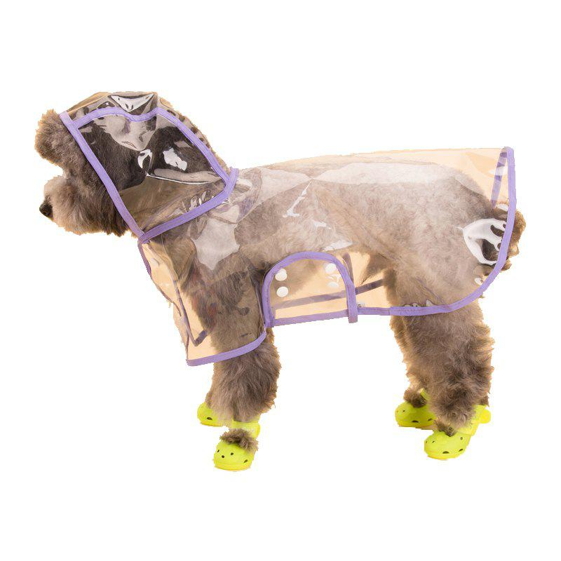 Fashion Lovoyager VC161103 Waterproof Pet Raincoat Hooded Jacket Transparent Clothing for Small Large Dog