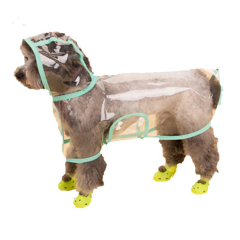 New Lovoyager VC161103 Waterproof Pet Raincoat Hooded Jacket Transparent Clothing for Small Large Dog