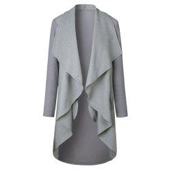 2017 New Autumn/Winter Long Style Cardigan Jacket - GRAY XL