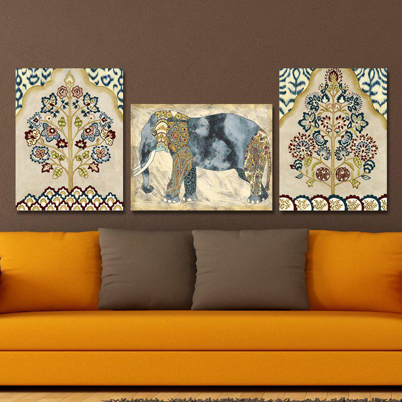 DYC 10035 3PCS Decoration Flowers Print Art Ready to Hang PaintingsHOME<br><br>Color: COLORMIX;