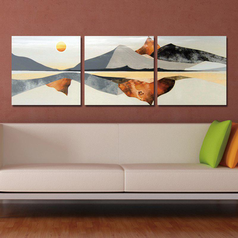 DYC 10046 3PCS Abstract Landscape Print Art Ready to Hang PaintingsHOME<br><br>Color: COLORMIX;