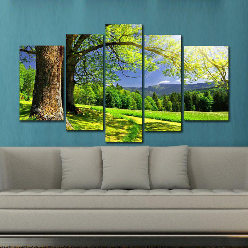 DYC 10085 5PCS Landscape Canvas  Print ArtHOME<br><br>Color: COLORMIX;
