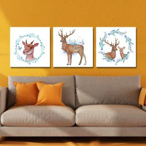 DYC 10142 3PCS Deer Print Art Ready to Hang Paintings -