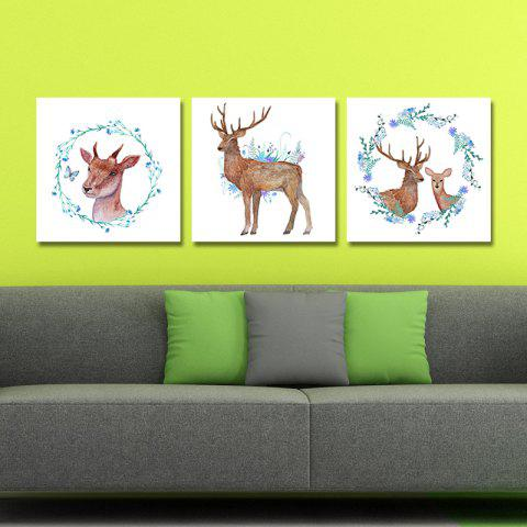 Shops DYC 10142 3PCS Deer Print Art Ready to Hang Paintings