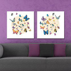 DYC 10161 2PCS Butterflies Print Art Ready to Hang Paintings - COLORMIX