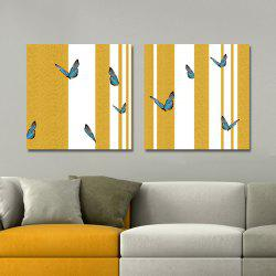 DYC 10164 2PCS Butterflies Print Art Ready to Hang Paintings - COLORMIX
