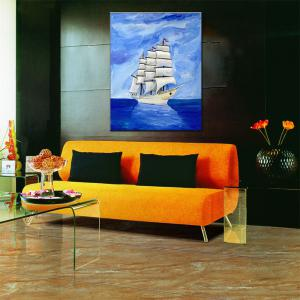 Hua Tuo Sailing Oil Painting 60 x 90CM OSR - 160306 - BULE AND WHITE 24 X 36 INCH (60CM X 90CM)