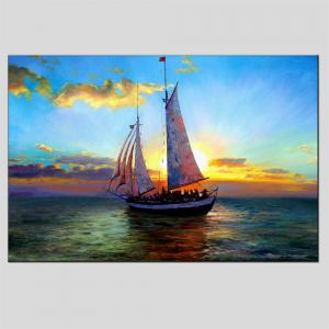 Hua Tuo Sailing Oil Painting 60 x 90CM OSR - 160309 - BULE AND WHITE 24 X 36 INCH (60CM X 90CM)