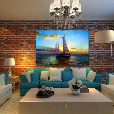 Hot Hua Tuo Sailing Oil Painting 60 x 90CM OSR - 160309 BULE AND WHITE 24 X 36 INCH (60CM X 90CM)
