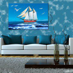 Hua Tuo Sailing Oil Painting 60 x 90CM OSR - 160317 - WHITE + BLUE 24 X 36 INCH (60CM X 90CM)