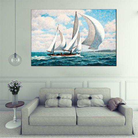Buy Hua Tuo Sailing Oil Painting 60 x 90CM OSR - 160318 - WHITE + BLUE  Mobile